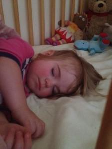 Chloe fast asleep