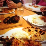 Saturday Night Fakeaway – Vegetable Masala Curry With Boiled Rice, Naan Bread & Onion Bhajis