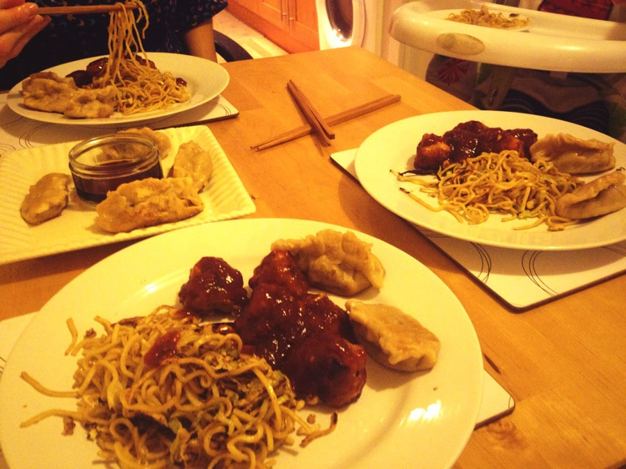 sweet and sour pork balls family meal