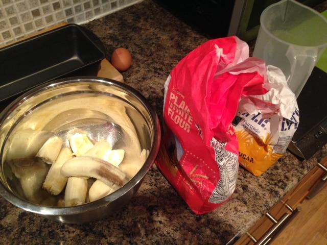 Banana Bread -ingredients