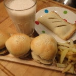 Saturday Night Fakeaway – Slider Burgers, French Fries, Apple Pie and Banana Milkshake