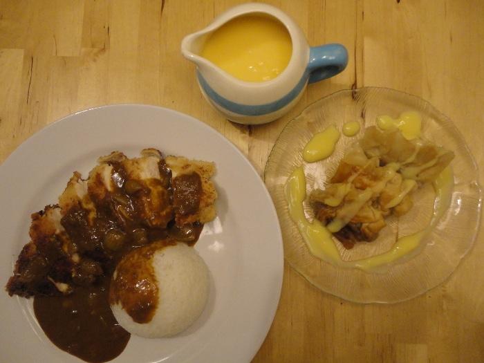 Katsu Chicken Curry & Apple and Ginger Dim Sum