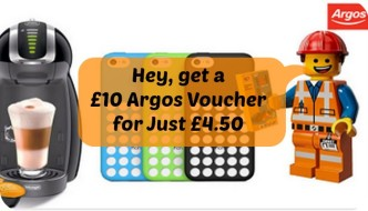 Get a £10 Argos Voucher for Just £4.50