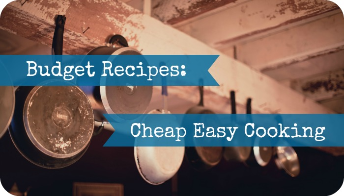My recipes are easy to do, don't take too much preparation, are from store cupboard basics and don't cost the earth