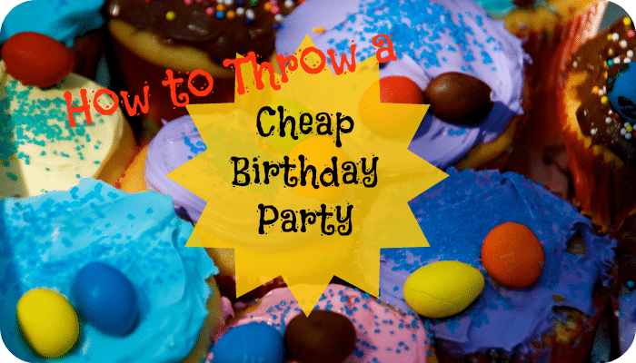 The average cost of a birthday party is £382 but it's easy to bring the costs down and have a cheaper birthday party