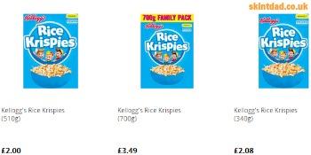 price per unit rice crispies