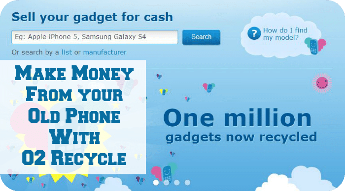 Make money from your phone with O2 Recycle