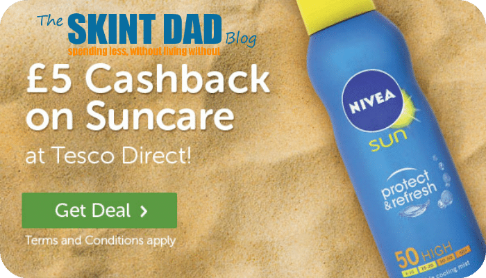 For the next few days TopCashback are giving new members £5 cashback on all suncare purchases with Tesco Direct