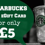 Starbucks £10 eGift Card for only £5