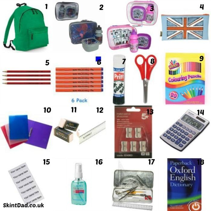 Back to School Essentials   The Skint Dad Blog