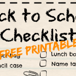 Back to School Essentials with Printable Checklist