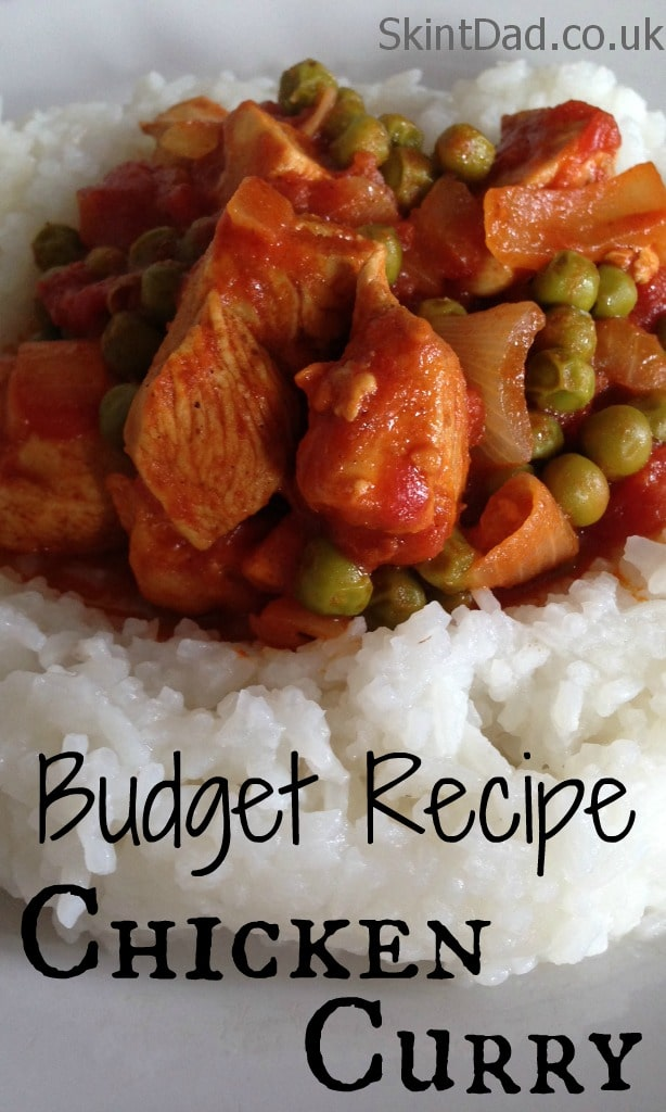 Budget Recipe Chicken Curry   The Skint Dad Blog