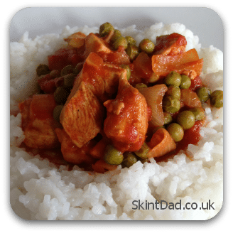 Budget Recipe Chicken Curry | The Skint Dad Blog