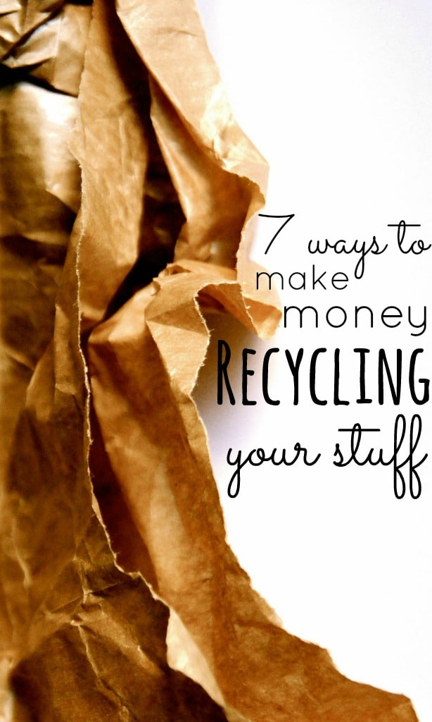 Most councils come to the road side to recycle our rubbish but did you know that you can actually make money recycling some of your old stuff?