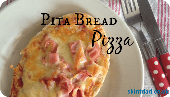 Pita Bread Pizza   A quick, easy and cheap lunchtime meal that kids can help to prepare   The Skint Dad Blog