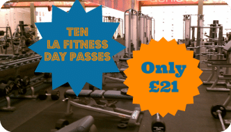 Ten LA Fitness day passes for only £21 | The Skint Dad Blog