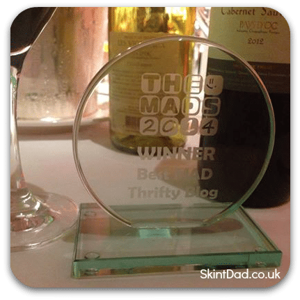 The MADS 2014 - Best MAD Thrift Blog Winner is Skint Dad