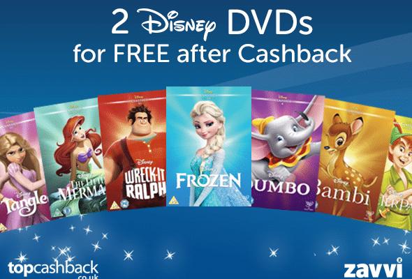 Free Disney DVD (plus BOGOFree Disney DVD (plus BOGOF offer) after cashbackF offer) after cashback