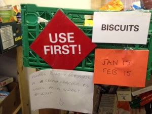 Food bank biscuits