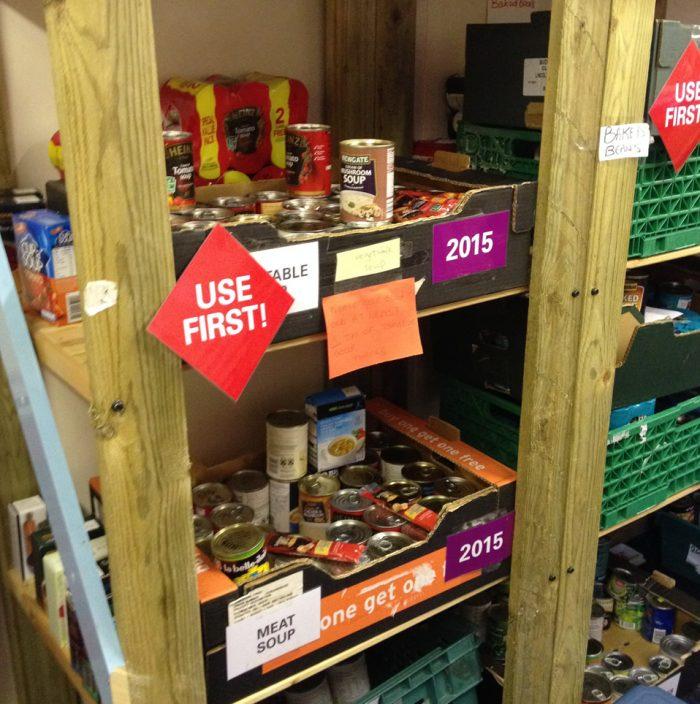 Food bank storage