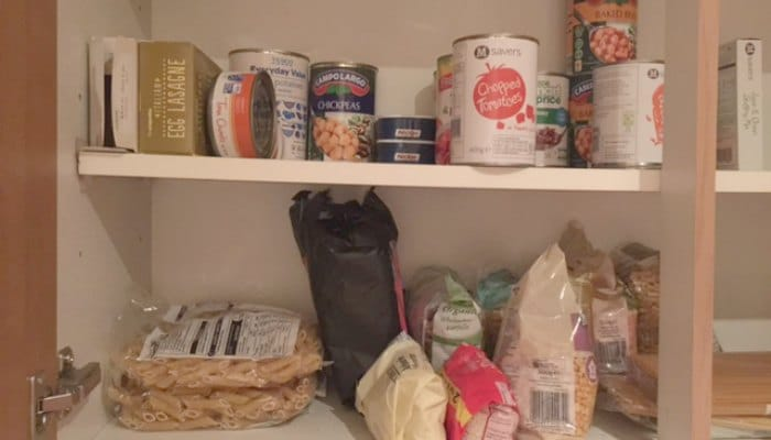 Check cupboards