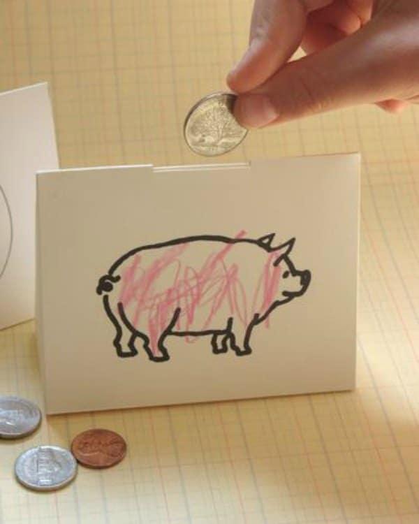 Как сделать копилку из бумаги легкие