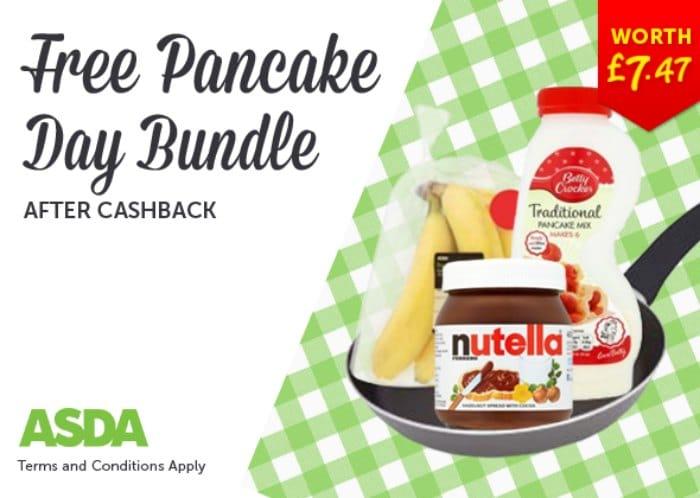 Free Pancake Bundle from ASDA via Snap & Save