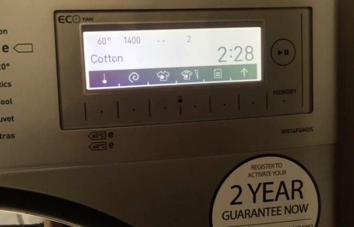Servis Hydrodrive Washing Machine touch screen