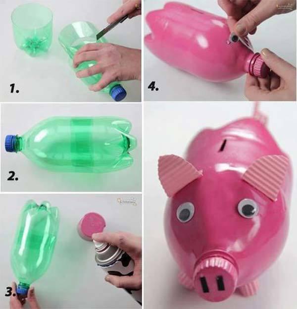 DIY Money Box - reuse a plastic bottle