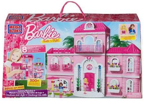 Mega Bloks Barbie Build n Style Luxury Mansion