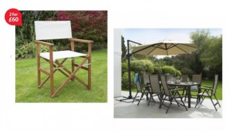 Save up to 40 percent on selected garden furniture with Tesco Direct