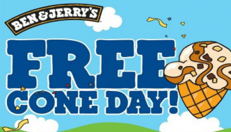 Free Cone Day April 12th 2016 with Ben and Jerry's!