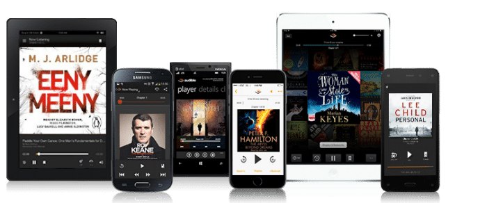 Amazon Audible is available for free on many devices