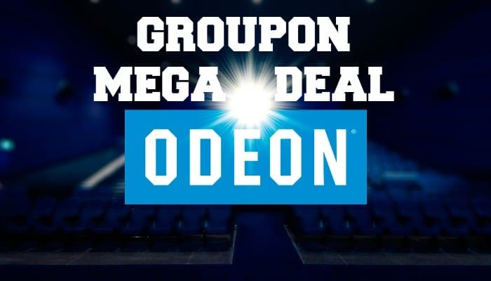 The latest Groupon cinema deal gets you five Odeon cinema tickets for £20 or two tickets for £10. Valid at cinemas nationwide but selling out quickly!