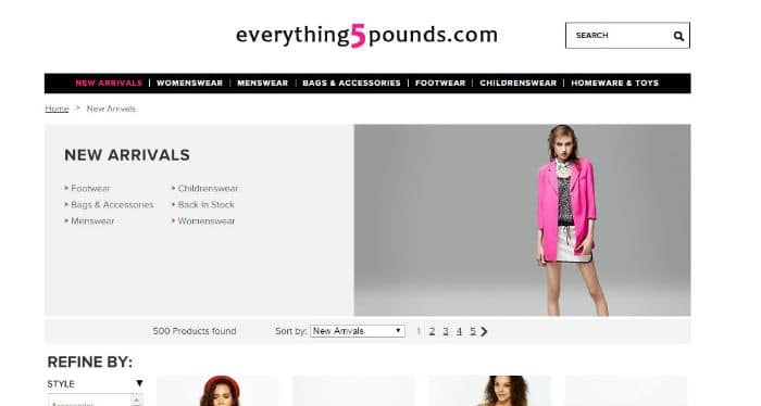 For a limited time only, take advantage with an Everything 5 Pounds voucher code to get FREE UK delivery on all orders!