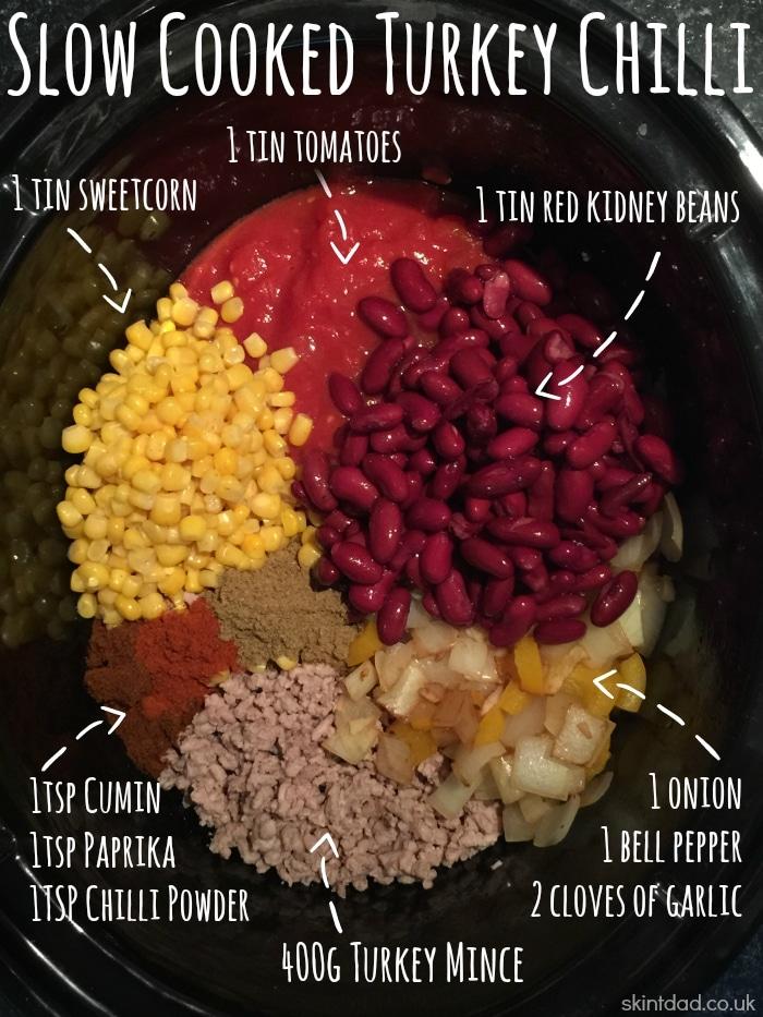 Slow Cooker Turkey Chilli Recipe - Skint Dad