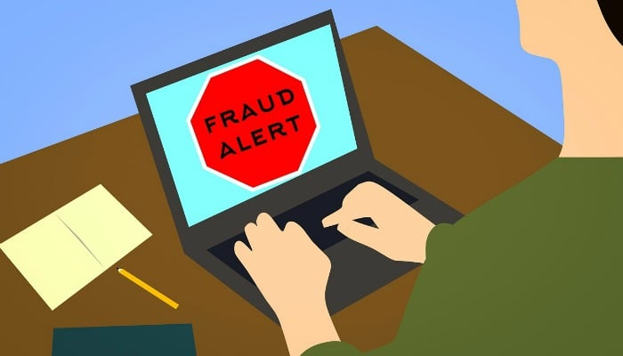 Debit card declined fraud alert