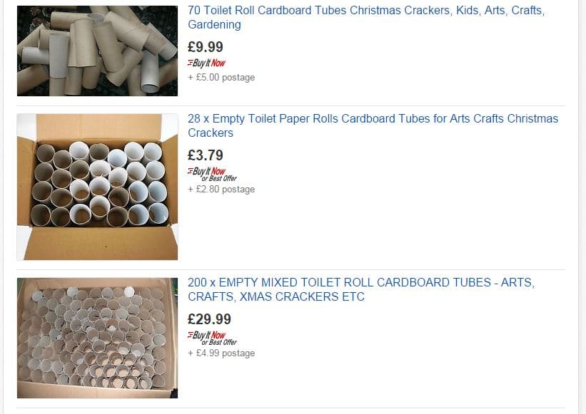 Make Money from your Toilet Roll Tubes on eBay