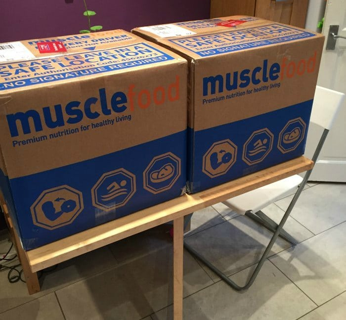 Muscle Food new customer super lean selection deal delivered in two large boxes