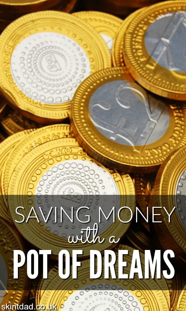 Saving a little bit at a time using leftover change can really add up and help with the costs of Christmas. It's easy to get your kids involved too.