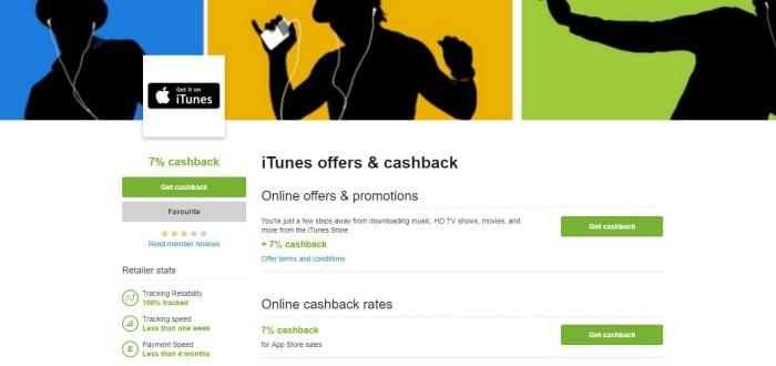 Quidco iTunes vouchers cashback