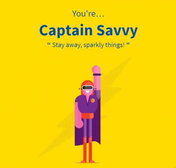 Aviva financial personality tool superhero