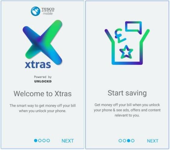 Tesco Mobile Xtras Screen Shot