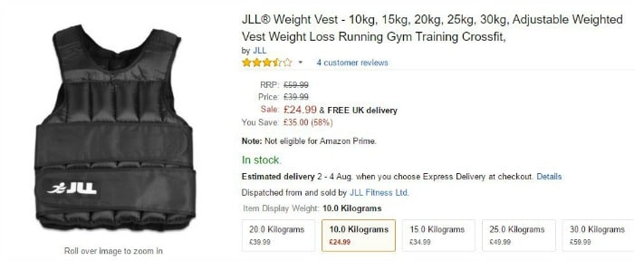 Weight Vest from Amazon