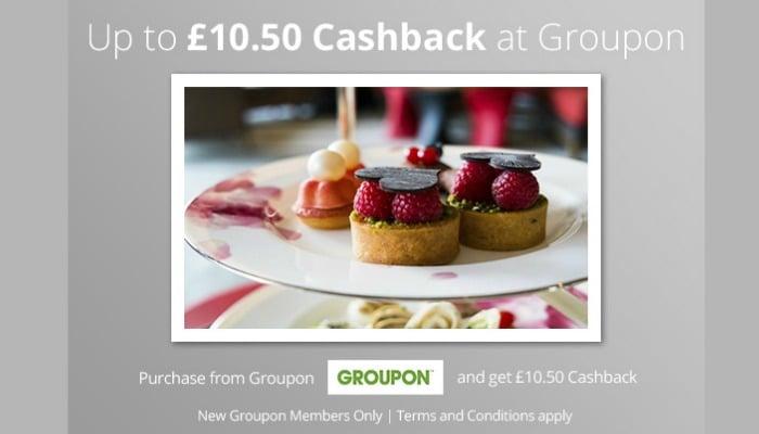 TopCashback: Up to £10.50 Cashback at Groupon!