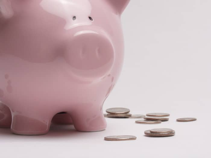 Save in a piggy bank