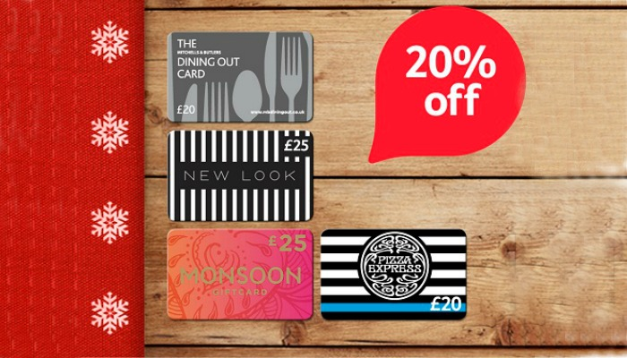 20% off Tesco Gift Cards plus other offers