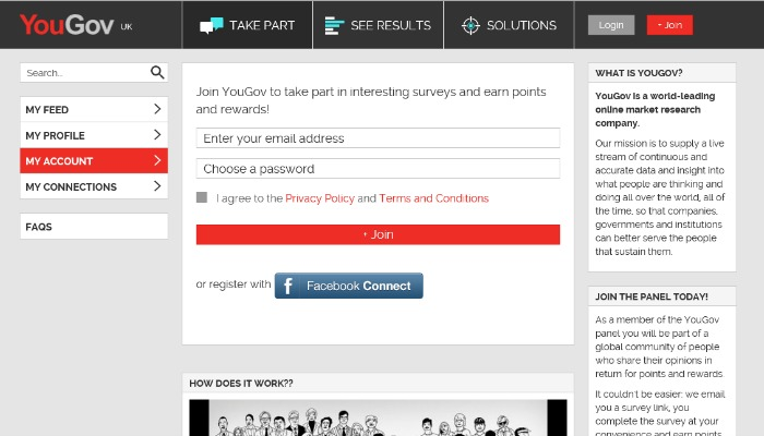 YouGov paid survey panel