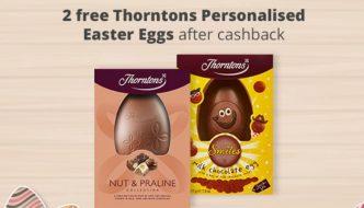 2 Free Thorntons Personalised Easter Eggs