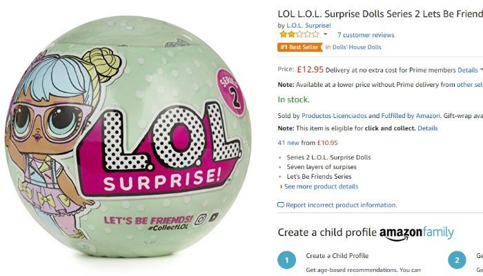 Real LOL Doll listing